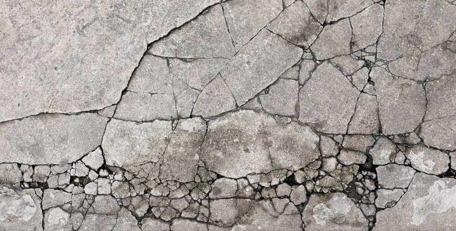 fissures de type Phénomène de retrait type béton